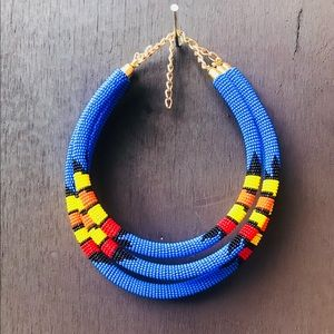 Tribal print necklace!💙💙